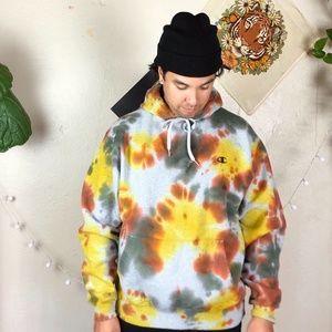 Champion Camo Tie Dye Classic Hoodie Sweatshirt